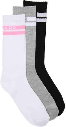 Converse Double Stripe Crew Socks - 3 Pack - Women's