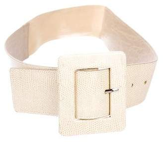 Alice + Olivia Leather Embossed Waist-Belt