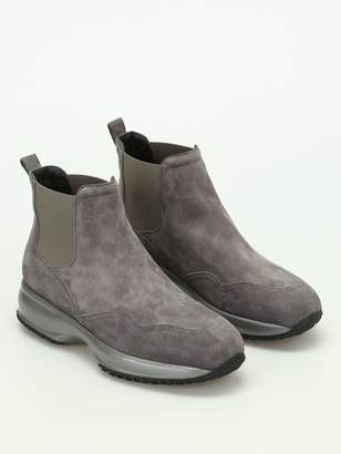 Hogan Interactive Chelsea Suede Boots
