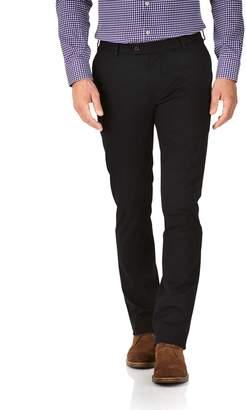 Charles Tyrwhitt Black Extra Slim Fit Stretch Cotton Chino Pants Size W30 L34