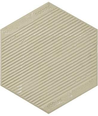 EliteTile SAMPLE - Karra Hexagon Porcelain Field Tile in Black/White
