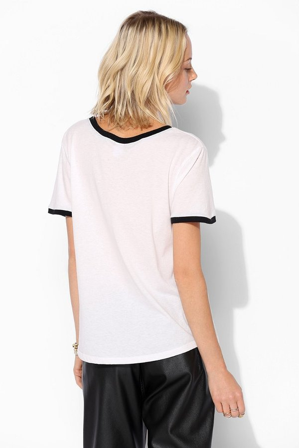 Urban Outfitters Corner Shop Ringer Tee