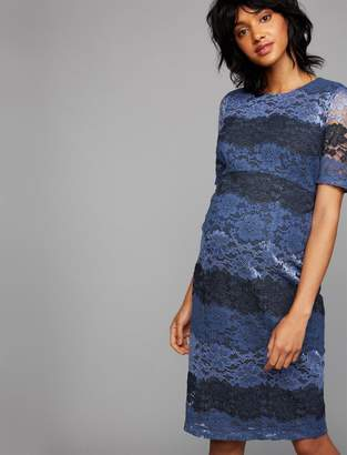 A Pea in the Pod Colorblock Lace Maternity Dress