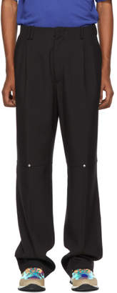 Off-White Black Double Pleat Trousers