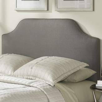 Fashion Bed Group Bordeaux Upholstered Headboard with Adjustable Height and Sweeping Curve Design, Dolphin Finish, Twin