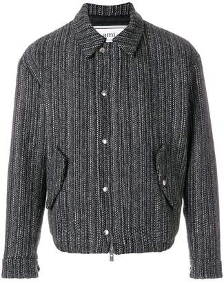 Ami Alexandre Mattiussi Lined Quilted Zipped Jacket