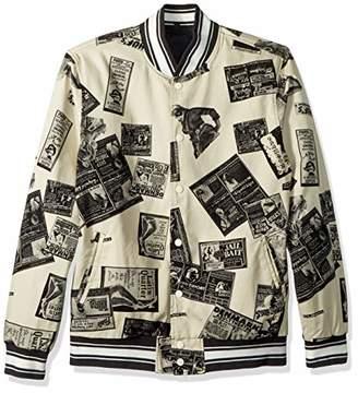 HUF Men's PEEP Show Varsity Jacket