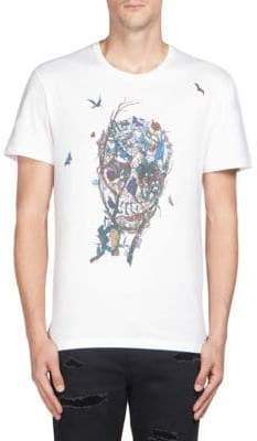 Alexander McQueen Skull Print Short Sleeve T-Shirt