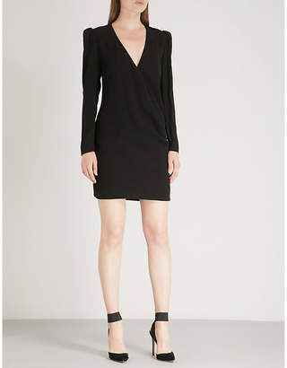 Givenchy Brooch-embellished crepe mini dress