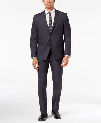 Vince Camuto Men's Slim-Fit Stretch Charcoal Solid Suit