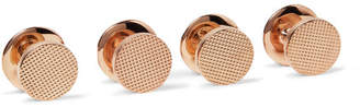 Deakin & Francis Kingsman + Rose Gold-Plated Sterling Silver Shirt Studs