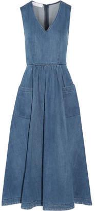 Co - Denim Midi Dress - Mid denim $625 thestylecure.com