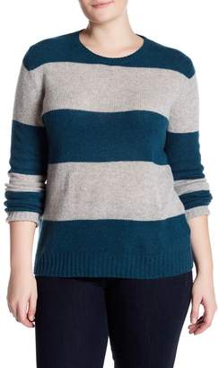 Naked Cashmere Titia Stripe Cashmere Sweater (Plus Size)