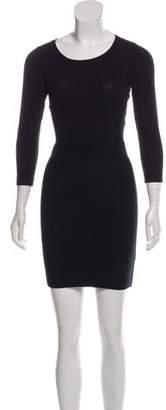 Markus Lupfer Mini Long Sleeve Cutout Dress
