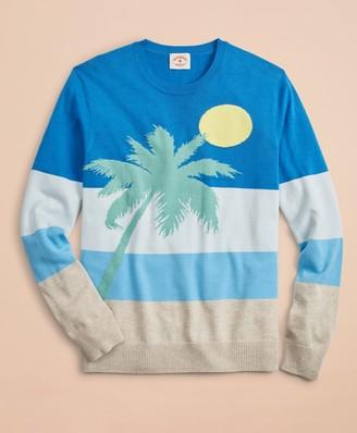 Brooks Brothers Striped Intarsia Beach Sweater