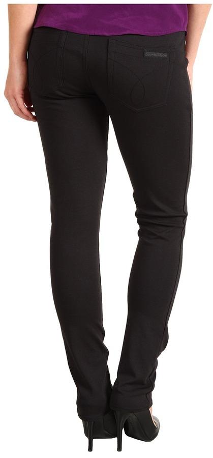 Calvin Klein Jeans Petite - Petite 5 Pocket Pant (Black) - Apparel