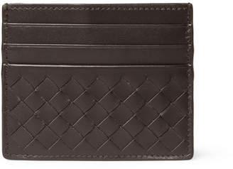 Bottega Veneta Intrecciato Woven Leather Cardholder - Brown