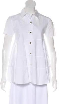 Co Short Sleeve Button-Up Top