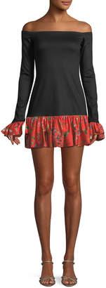 Alexis Estelle Off-the-Shoulder Flounce Mini Dress