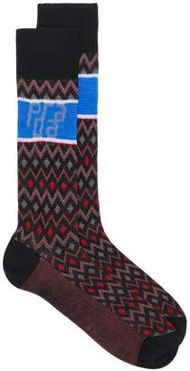 Prada jacquard knit socks