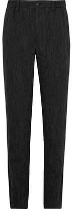 Issey Miyake Crinkled Wool-Blend Trousers