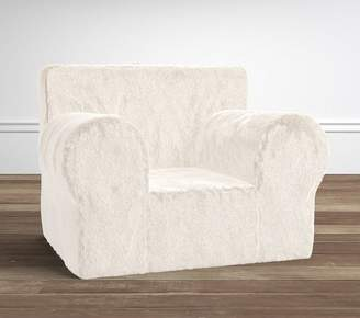 Pottery Barn Kids Ivory Faux Fur Oversized Anywhere Chair® Slipcover Only