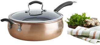 JCPenney EPICURIOUS Epicurious Copper 11 Aluminum Nonstick Jumbo Cooker with Lid