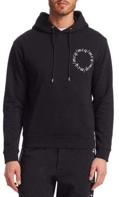 McQ Men's Centurian Hooded Sweatshirt - Darkest Black - Size Large