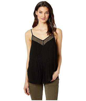 1 STATE 1.STATE Sheer Stripe Lace Inset Cami
