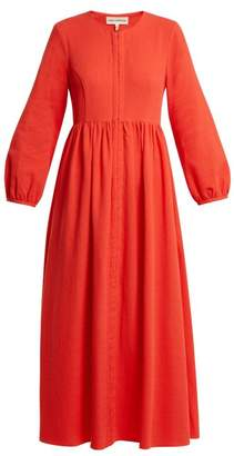 Mara Hoffman Paula Balloon Sleeved Organic Cotton Dress - Womens - Red