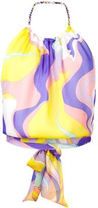Emilio Pucci Rivera Print Chain-Detail Top