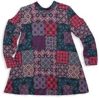 Un Deux Trois Girl's Patchwork A-line Dress