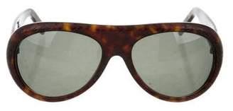 Christian Roth Woven Aviator Sunglasses