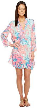 Lilly Pulitzer Emerald Beach Cover-Up Tunic Women's Blouse