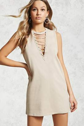 Forever 21 Lace-Up Mini Dress