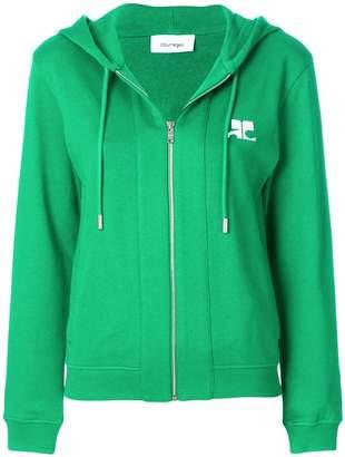 Courreges zip front hoodie