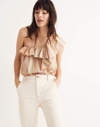 Madewell Cecilie Copenhagen Single-Shoulder Ruffle Top