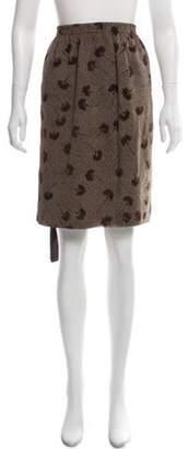 Max Mara Silk Knee-Length Skirt Brown Silk Knee-Length Skirt