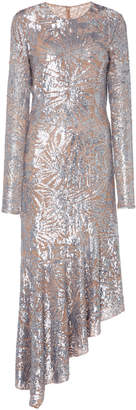 Michael Kors Silver Leaf Paillette Dress