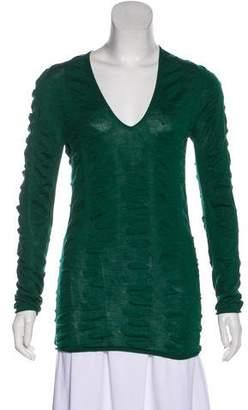 Prada Ruched Knit Sweater