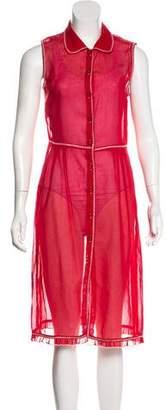 Philosophy di Alberta Ferretti Sheer Midi Dress