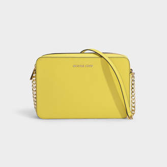 MICHAEL Michael Kors Large East West Crossbody Bag In Sunshine Crossgrain Leather