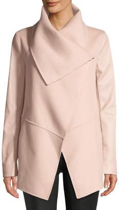 Mackage Vane Wool Coat w/ Leather Sleeves