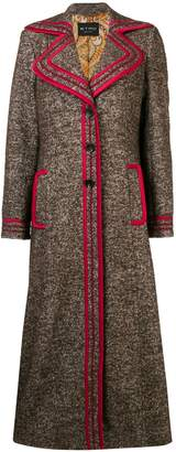 Etro contrast-trim midi coat