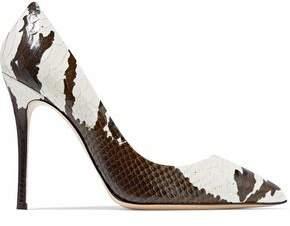 Giuseppe Zanotti Lucrezia Snake-Effect Mirrored-Leather Pumps
