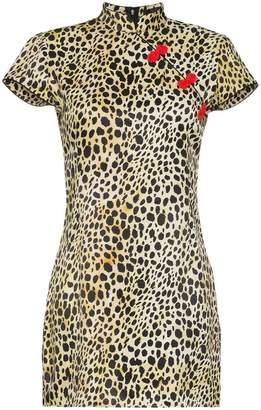 De La Vali Silk leopard print Suki dress