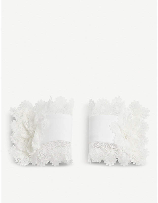 CATHERINE OSTI Elizabeth cotton-guipure cuffs