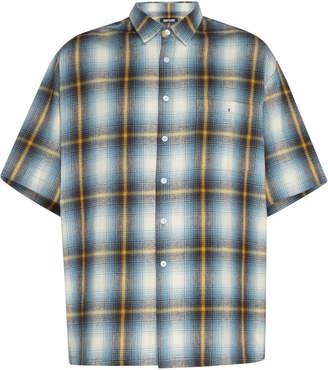 Adaptation Short Sleeve Plaid Shirt Size: M