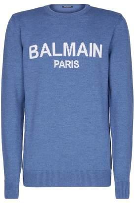 Balmain Wool Logo Sweater