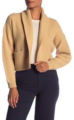 Vince Open Front Wool Blend Cropped Cardigan